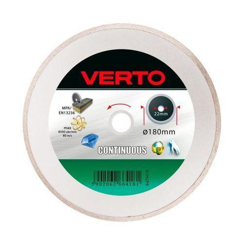 Tarcza do cięcia 61h2p8 180 x 22.2 diamentowa pełna marki Verto