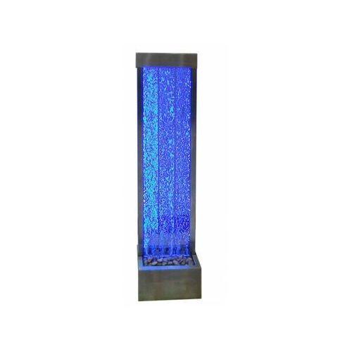 Vente-unique Wolnostojąca bąbelkowa ściana wodna blennie - diody led zmieniające kolory - wys. 150 cm