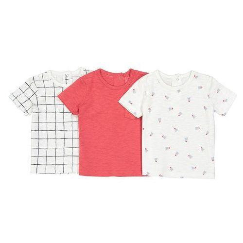 La redoute collections Zestaw 3 koszulek niemowlęcych z krótkim rękawem 1 miesiąc - 3 lata
