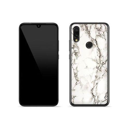 Xiaomi Redmi 7 - etui na telefon Fantastic Case - biały marmur, kolor biały