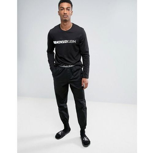 id woven joggers with cuffed ankle in slim fit - black marki Calvin klein