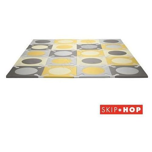 mata playspot - miękka, piankowa - grey/gold marki Skip hop