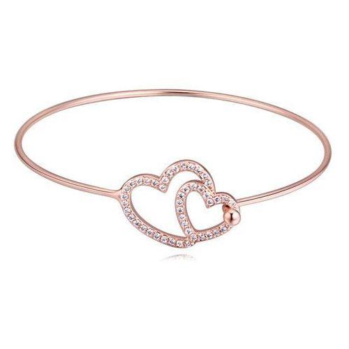 Exclusive bransoletka podwójne serce różowe złoto - czerwone złoto marki Exclusive by milla