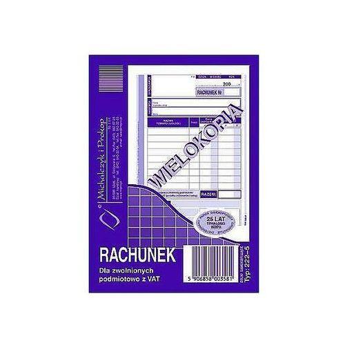 Michalczyk i prokop Rachunek dla zwolnionych podmiotowo z vat a6 80k 222-5