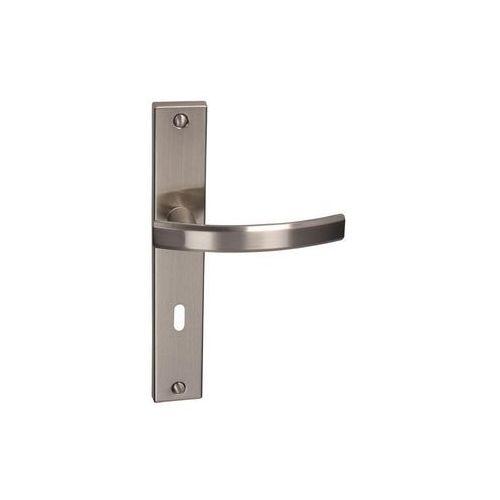 Inspire Klamka drzwiowa z długim szyldem pod klucz fiume 72 nikiel szczotkowany