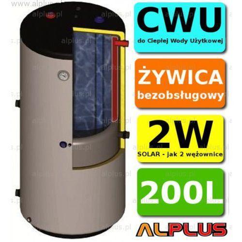 solar 200l pionowy bojler dwupłaszczowy, wymiennik zbiornik ogrzewacz cwu bezobsługowy, jak 2w, dostawa gratis marki Ermet