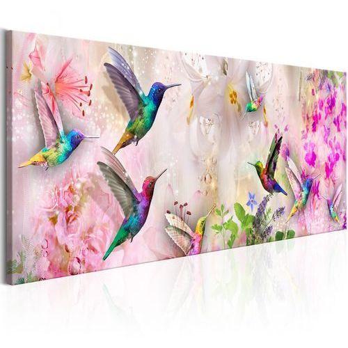 Artgeist Obraz - kolorowe kolibry (1-częściowy) wąski