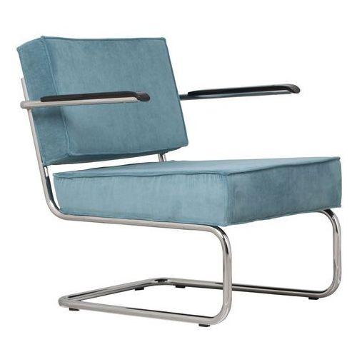 krzesło lounge ridge rib arm niebieskie 3100017 marki Zuiver