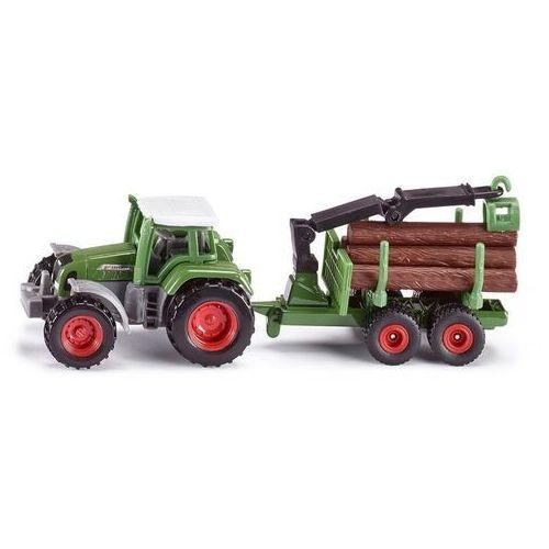 Traktor z przyczepą do bali drzewa