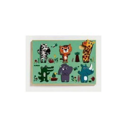 Drewniane puzzle - Dżungla