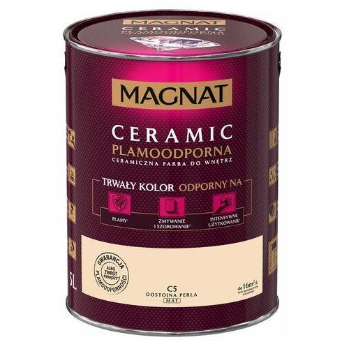 Śnieżka Farba ceramiczna magnat ceramic c5 dostojna perła 5l (5903973153306)