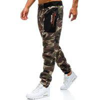 T&c star Spodnie męskie dresowe joggery moro khaki denley tc876