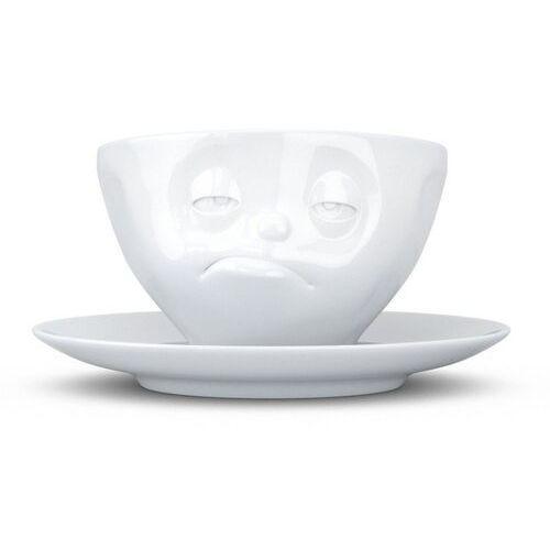 """- filiżanka do kawy - """"śpiący"""" - biała - 0,2 l marki 58products"""