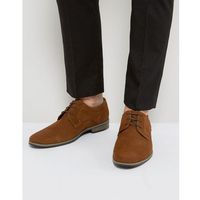 suede derby shoes in tan - tan marki River island