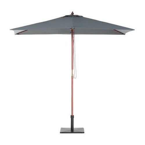 Parasol ogrodowy drewniany 144 x 195 cm ciemnoszary FLAMENCO (7105277695119)