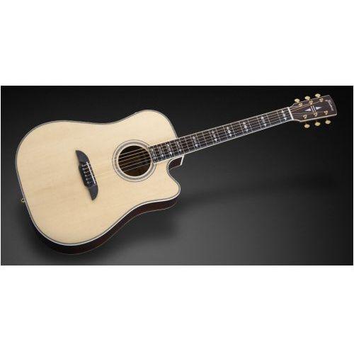 fd 28 sr vnt - vintage transparent natural tinted high polish + cutaway & eq gitara elektroakustyczna marki Framus