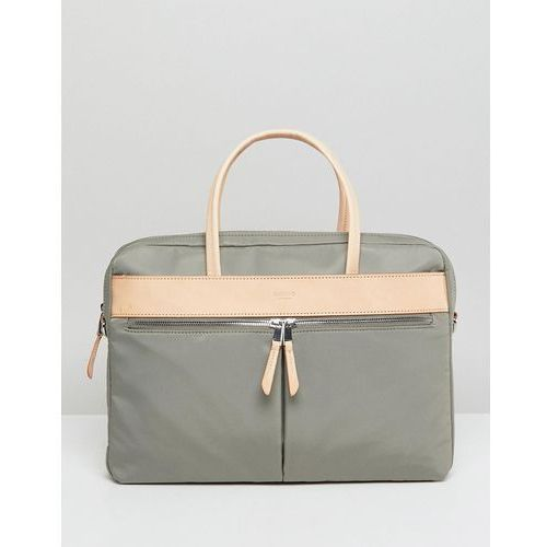 Knomo Mayfair Hanover Briefcase with Laptop Compartment and RFID Protection - Green, kolor zielony