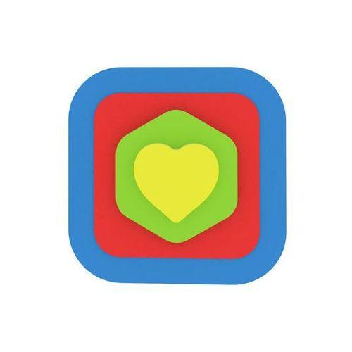 Moje první puzzle - Tvary čtverec/srdce modrá neuveden (8595615200195)