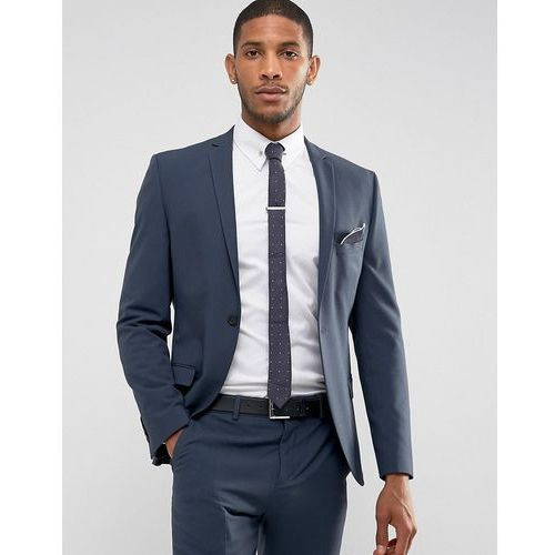 super skinny suit jacket in stretch in navy - navy marki Selected homme