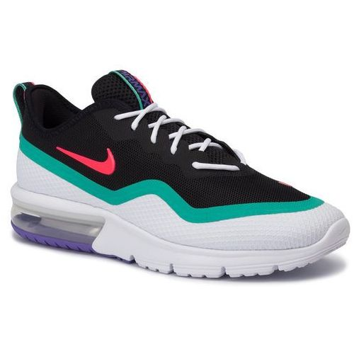 Buty - air max sequent 4.5 bq8822 600 red orbit/white/kinetic green, Nike, 40-46