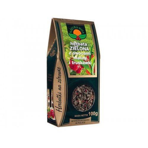 NATURA-WITA herbata zielona z ow. maliny i truskawki PUDEŁKO 100g