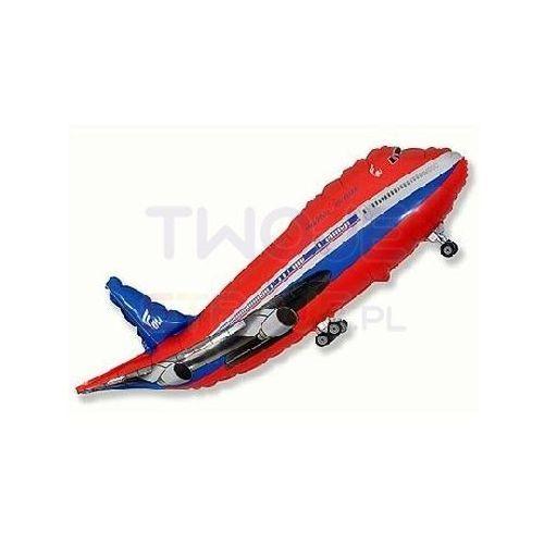 Twojestroje.pl Balon foliowy samolot czerwony 14'' 1szt