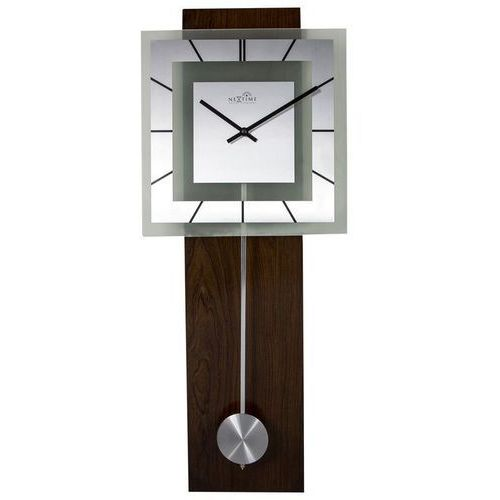 Nextime - zegar ścienny retro pendulum square rc