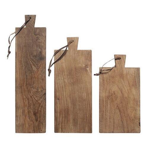 HK Living Zestaw desek z drewna tekowego (3 szt) HAP6181 (8718921006019)