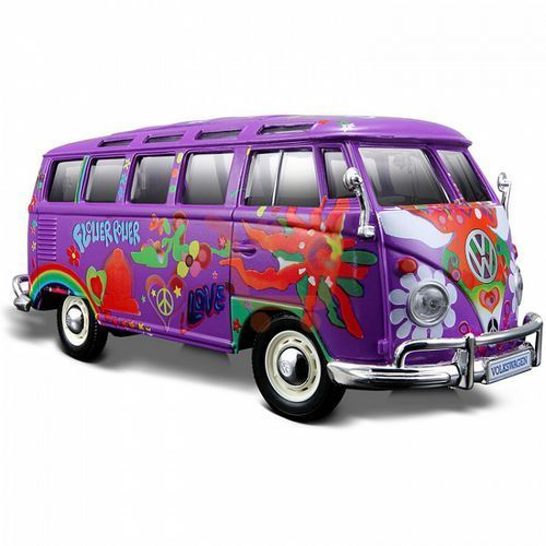 "Maisto volkswagen van ""samba"" hippie line 1/25"