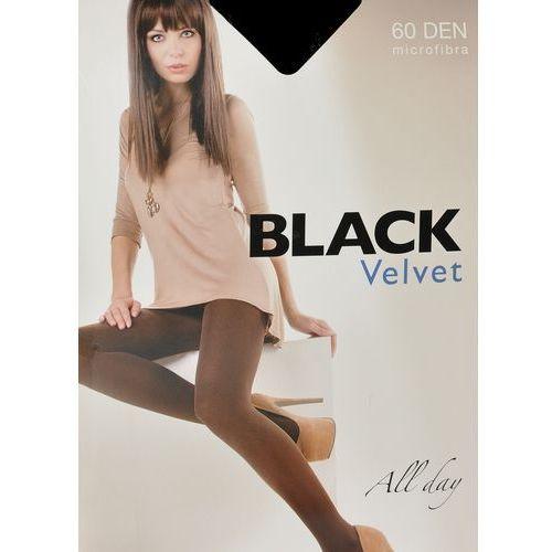 Rajstopy black velvet 60 den 5xl 5-xl, szary/antracit, egeo marki Egeo