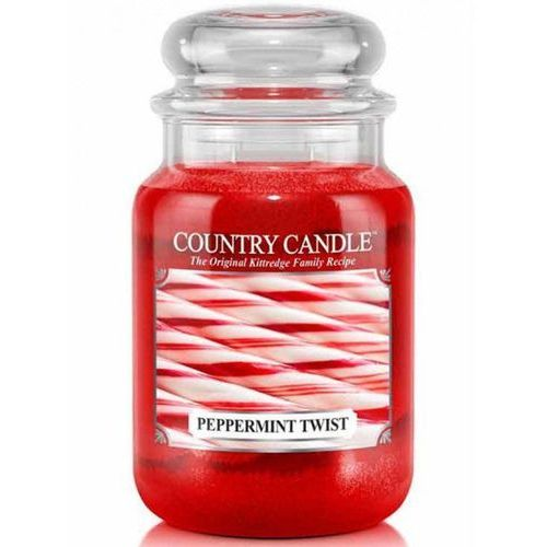 Country candle świeca zapachowa 652g peppermint twist marki Kringle candle