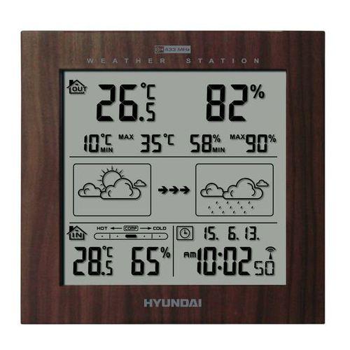 Stacja pogody HYUNDAI WS2244W Brązowy + DARMOWY TRANSPORT! (8592417046471)