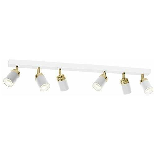 reno 5158 listwa plafon lampa sufitowa spot 6x8w gu10 biały złoty marki Luminex