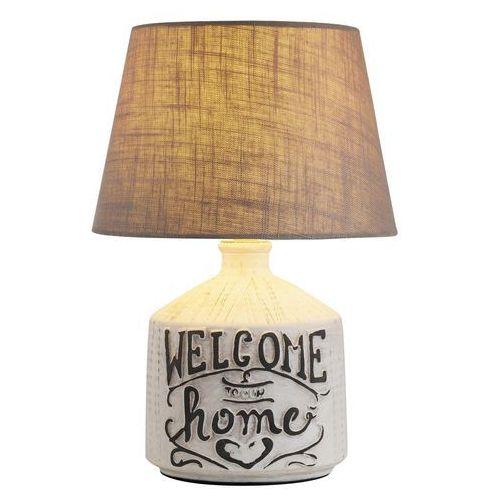 Rabalux Lampa lampka stołowa petra 1x40w e14 beżowy/biały 4386