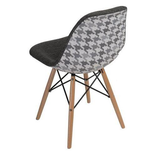 D2.design Krzesło p016w pattern szare/pepitka - d2 design - zapytaj o rabat! (5902385722728)