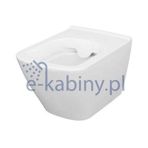 miska wc wisząca city square clean on bezkołnierzowa k35-041 marki Cersanit