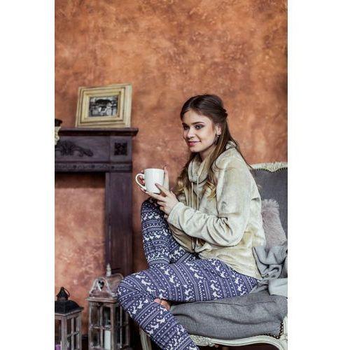 Piżama lhs 886 b7 s, beżowo-granatowy, key marki Key