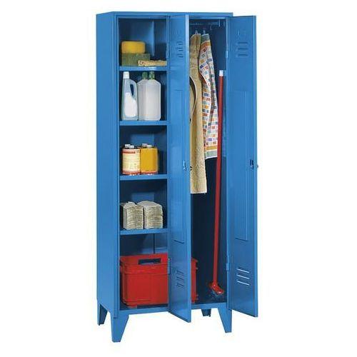 Szafa stalowa, szafka na urządzenia z nóżkami, jasnoniebieski, ral 5012. spawana marki Eugen wolf