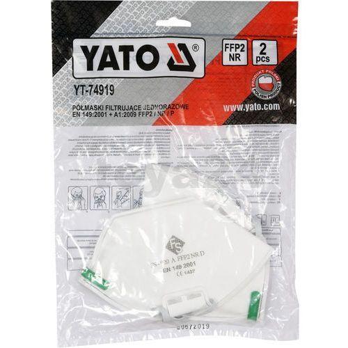 Półmaski filtrujące ffp2/p 2szt / yt-74919 / - zyskaj rabat 30 zł marki Yato