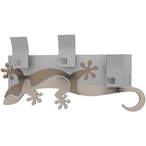 Wieszak ścienny dekoracyjny Gecko CalleaDesign piaskowy (54-13-2-12)