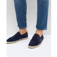 slip on espadrilles in navy suede - navy, Frank wright