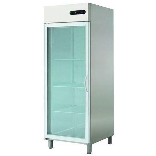 Szafa chłodnicza 1-drzwiowa prawostronna z drzwiami przeszklonymi 700 l, 693x826x2008 mm | ASBER, ECP-701 GLASS R
