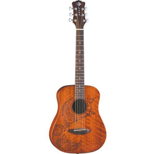 safari tattoo gitara akustyczna 3/4 marki Luna