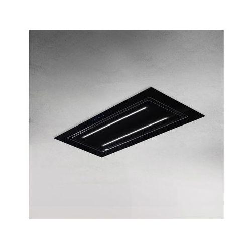 Afrelli Okap sufitowy elegante sofito czarny 96 cm, 805 m3/h
