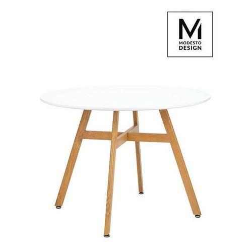 Sofa.pl Modesto stół flat fi 100 biały - blat mdf, imitacja drewna