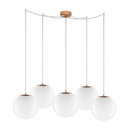LAMPA wisząca TSUKI ELEMENTARY M5/S/OPAL Sotto Luce szklana OPRAWA klasyczna minimalistyczny ZWIS kule białe