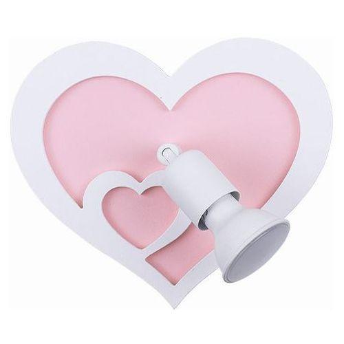 Nowodvorski Kinkiet heart i 9062 lampa ścienna oprawa sufitowa 1x50w gu10 biała/różowa (5903139906296)