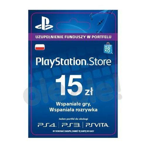 Sony PlayStation Network 15 zł [kod aktywacyjny] z kategorii Kody i karty pre-paid