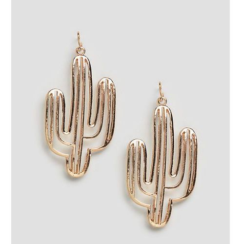 inspired cut out cactus earrings - gold marki Reclaimed vintage