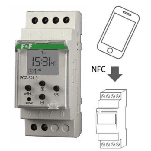 Zegar sterujący tygodniowy włącz / wyłącz jednokanałowy PCZ-521 F&F (5908312593249)